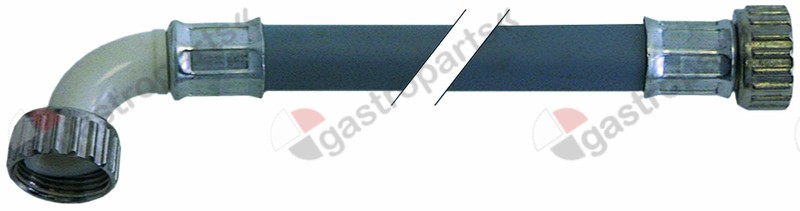 520.011, supply hose PVC straight-curved DN13 connections 3/4