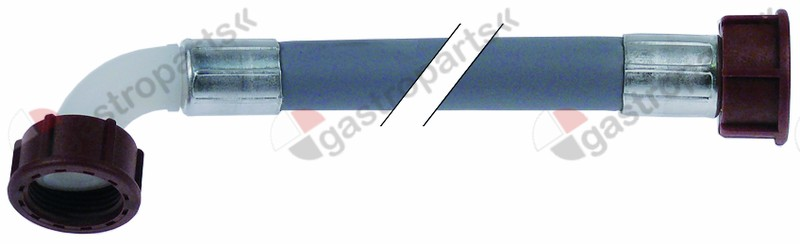 520.012, supply hose PVC straight-curved DN13 connections 3/4