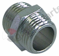 520.162, double nipple nickel-plated brass connection 1/8