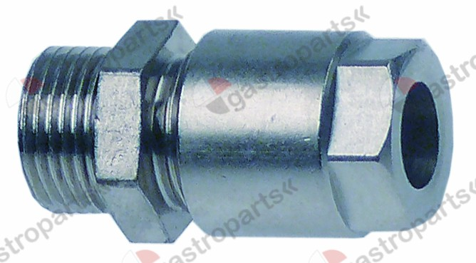 520.215, hose connector 3/8  for pipe o 10mm