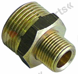 520.218, double nipple brass connection 3/8