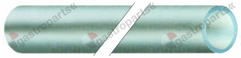520.278, PVC hose ID ø 6mm ED ø 8mm L 2m thickness 1mm t.max. 60°C transparent