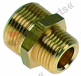 520.685, double nipple brass connection 1/2  - 3/4