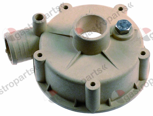 521.522, pump cover ALBA PUMPS (C&A) inlet ø 32mm outlet ø 30mm auxiliary pressure connection 13mm