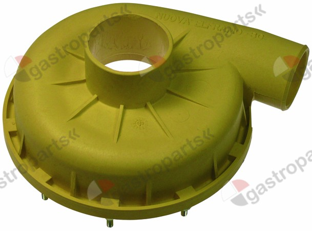 521.543, pump cover ELFRAMO inlet ø 53mm outlet ø 44mm turn direction right ø 160mm ID ø 136mm