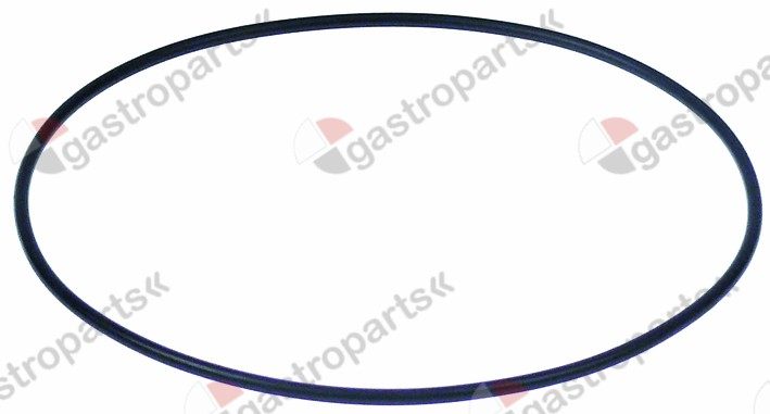 521.712, pump cover gasket EPDM thickness 3,53mm ID ø 158,3mm Qty 1 pcs