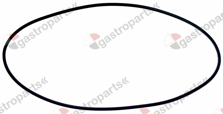 521.726, pump cover gasket EPDM thickness 2 mm ID ø 120 mm Qty 1  pcs