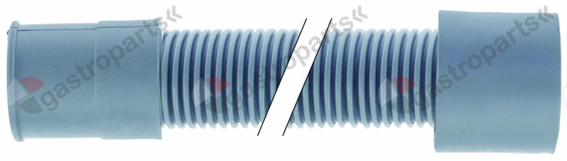 524.257, drain hose DN19 L 1700mm A int. ø 21mm A ext. ø 27mm B int. ø 29mm B ext. ø 34mm