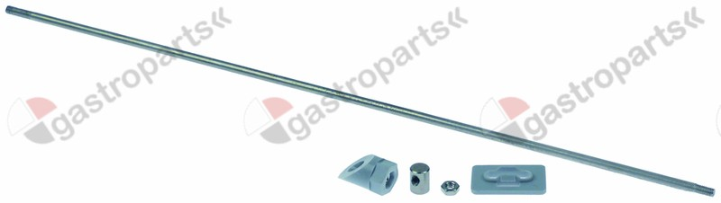 524.716, door pin L 320mm M4 set o 4mm