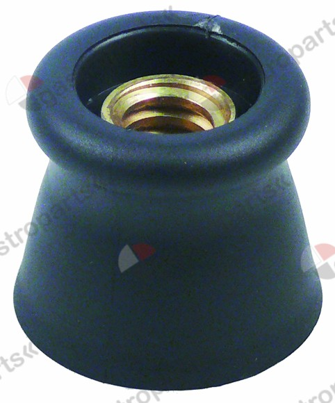 525.631, turning handle o 50 mm Tr18x4 black