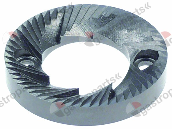 527.217, grinding burrs pair turn direction left D1 ø 64mm ID ø 35mm H 10mm tooth spacing 3,5mm hole ø 6mm