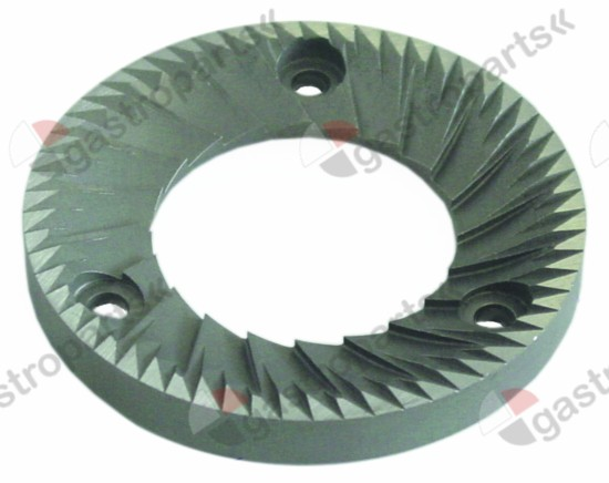 527.228, grinding burrs pair turn direction right D1 ø 83mm ID ø 45mm H 10mm tooth spacing 4mm hole ø 5,4mm