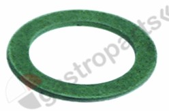 528.001, flat gasket fibre D1 ø 56,5mm D2 ø 41,8mm thickness 3,2mm Qty 1 pcs