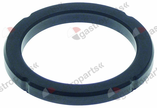 528.065, filter holder gasket with ridge D1 ø 71,5mm D2 ø 55mm H1 7,1mm H2 6,1mm with outside notch
