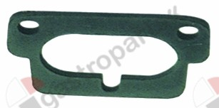 528.142, group gasket L 76mm W 50mm thickness 3mm hole distance 60mm suitable for BEZZERA