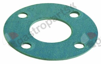 528.152, gasket D1 ø 88mm D2 ø 40mm thickness 2mm hole distance 68mm fibre