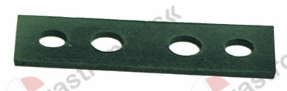 528.156, Replaced by 526372 / group gasket L 102mm W 31mm thickness 3mm fibresuitable for NUOVA SIMONELLI