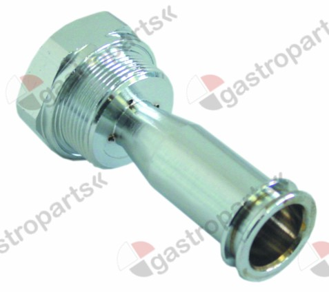 528.523, nozzle holder thread M30x1.5 IT M16x1.5 IT 1 M6 ø 25,5mm int. ø 1 15,3mm int. ø 2 17,8mm L 66,5mm