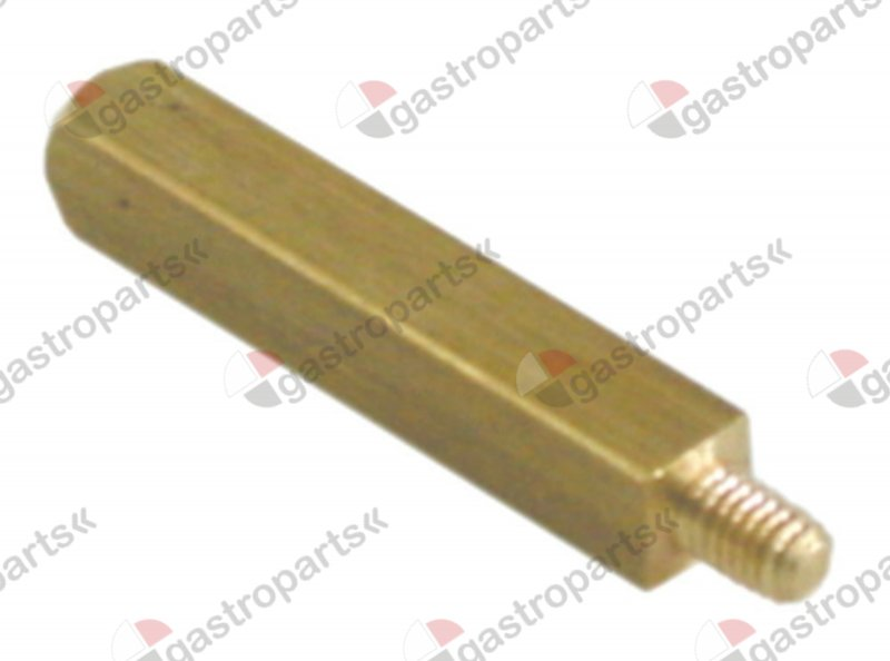 528.532, shaft thread M4 square L 34mm W 6mm brass