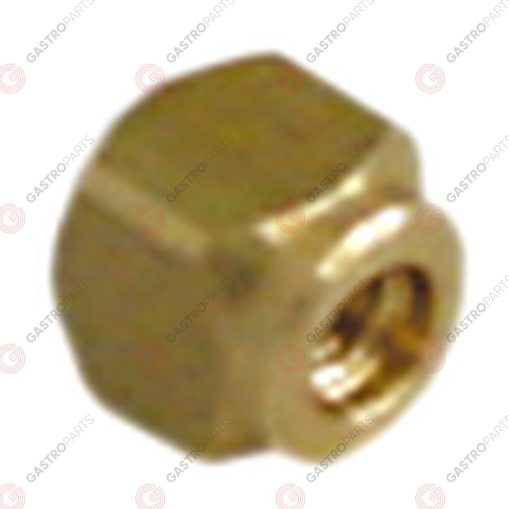 528.535, Boulon carré laiton filetage M3 L 6mm lar. 6mm H 6mm