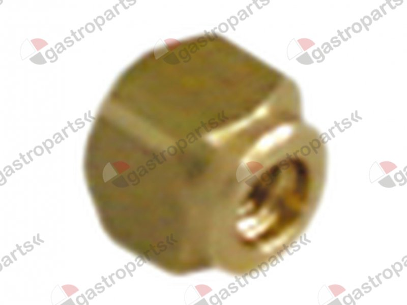 528.535, bolt square brass thread M3 L 6mm W 6mm H 6mm