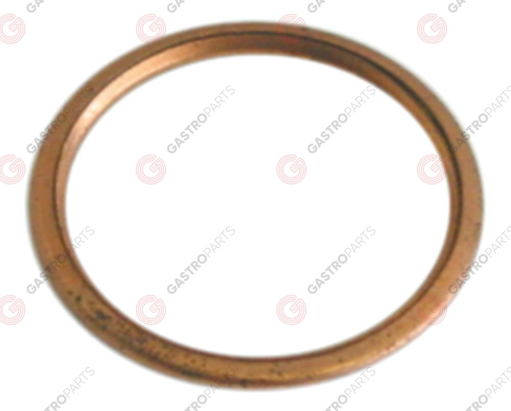 528.560, gasket copper D1 ø 32mm D2 ø 26,5mm thickness 2,5mm