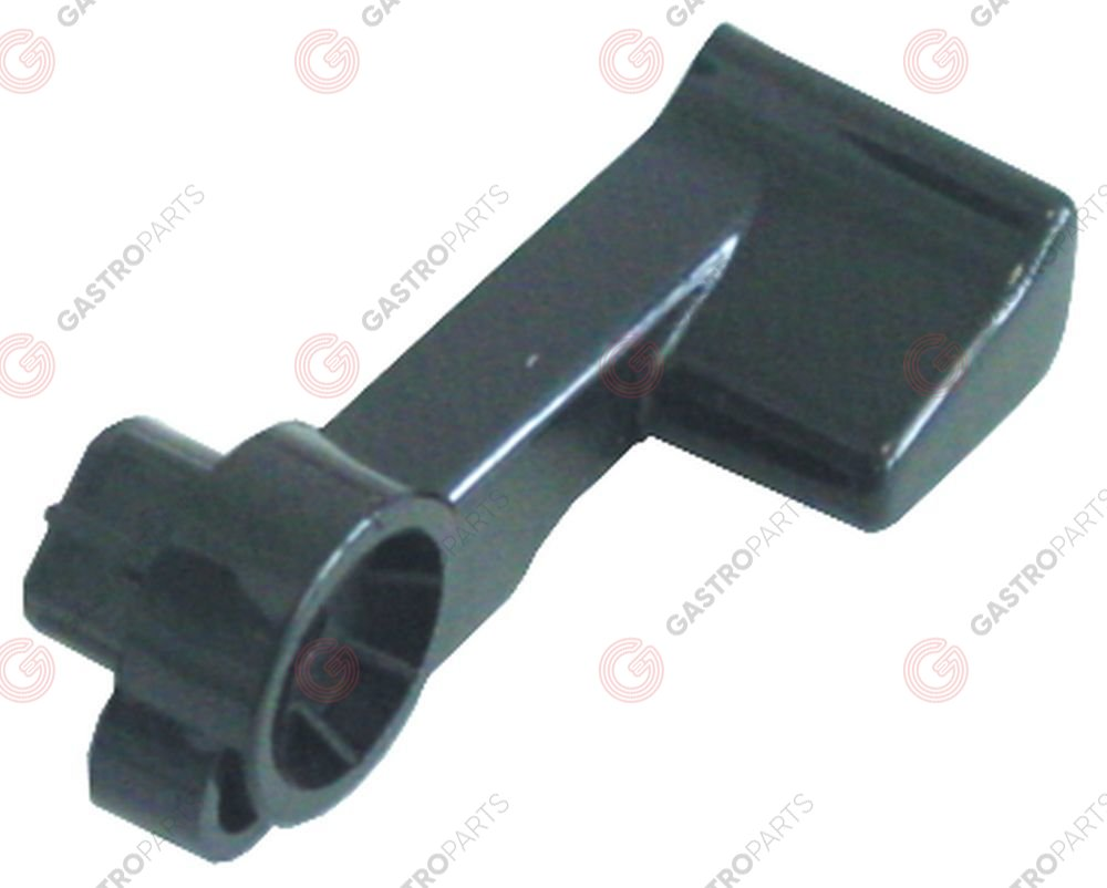 528.575, lever handle plastic black