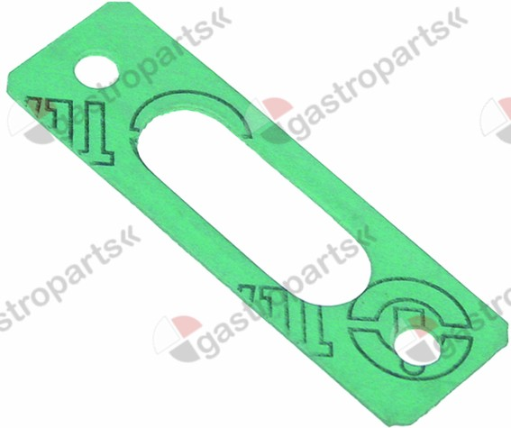 528.963, gasket L 70mm W 22,5mm fibre thickness 1mm