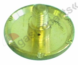 529.082, water dispersion ø 21mm hole ø 1,5mm H 12mm ET M5 6 notches 1,5mm brass 2 holes perforation ø 1mm