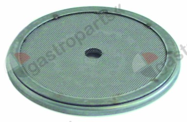 529.085, shower screen ø 57,5mm H 4mm hole ø 5mm