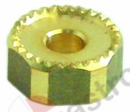 529.143, water dispersion hole ø 7mm notches 2mm brass ø 21,5mm