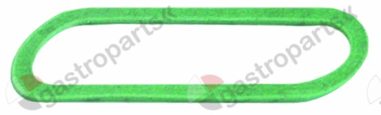 529.363, gasket L 90,5mm W 29,5mm thickness 1,5mm fibre water level glass suitable for FAEMA