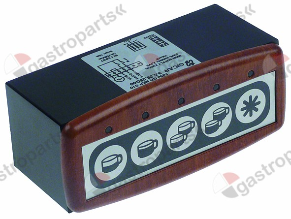 529.947, keypad unit 230 V wood W 45,5 mm L 117 mm