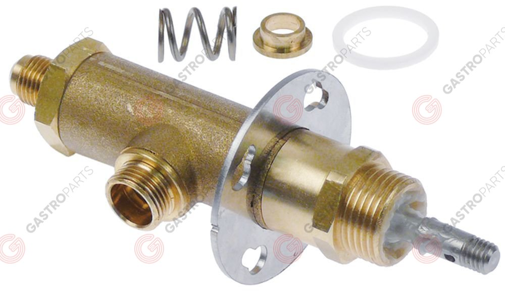 529.989, steam tap complete swing lever inlet 1/4