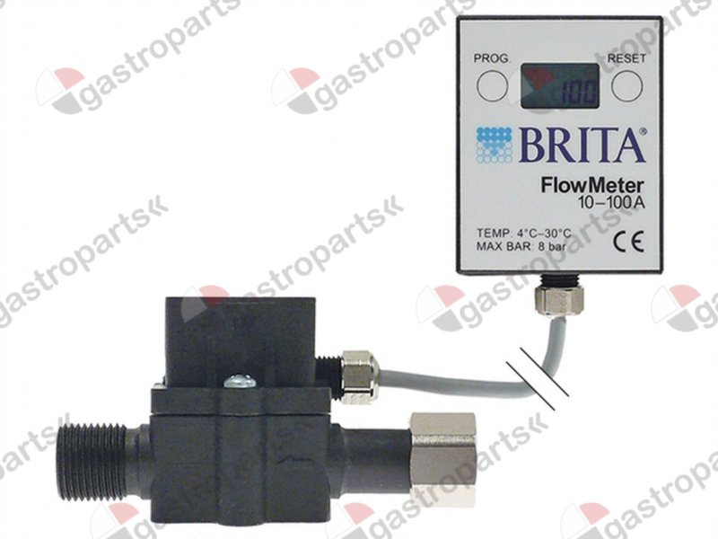530.055, flow meter with digital display connection 3/8