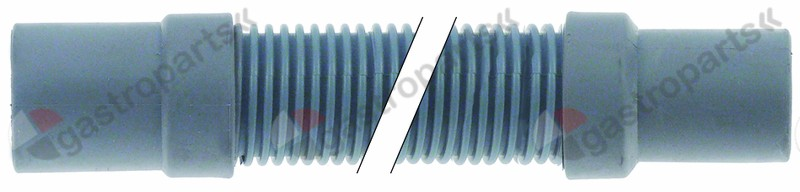 530.083, drain hose DN31 L 1500mm A int. ø 31mm A ext. ø 35mm B int. ø 452mm B ext. ø 46mm