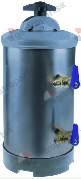 530.120, softener manual with 2 valves container capacity 8l amount of resin 5,6l