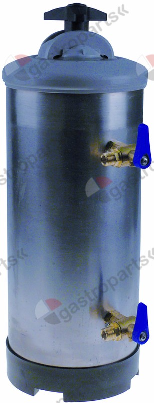 530.121, softener manual with 2 valves container capacity 12l amount of resin 8,4l