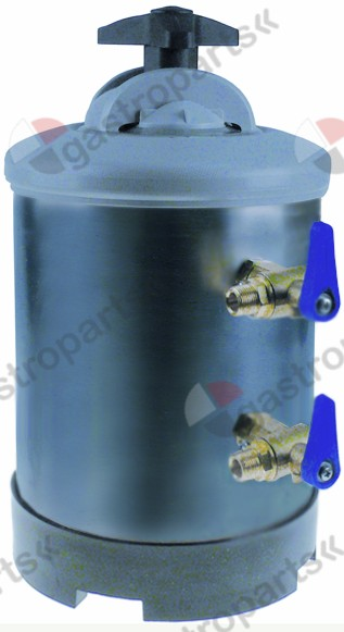 530.161, softener manual with 2 valves container capacity 5l amount of resin 3,5l