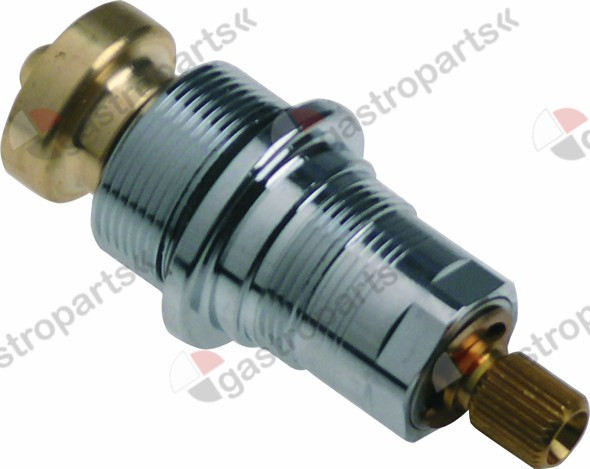 535.007, tap head thread M25x1.25 rotation 180° cold/hot water H1 23-30mm H2 44mm H3 12mm