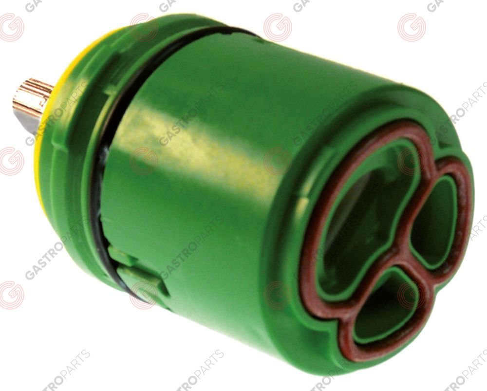 535.017, ceramic cartridge D1 ø 38,5mm D2 ø 35mm H1 41,6mm H2 49,5mm H3 70mm suitable for KWC