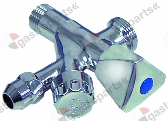 540.041, combination angle valve inlet 1/2