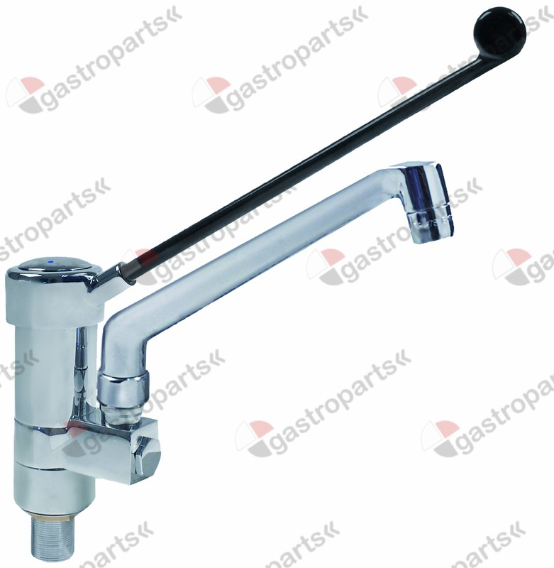 540.096, single lever monobloc tap projection 200mm spout height 210mm with long lever