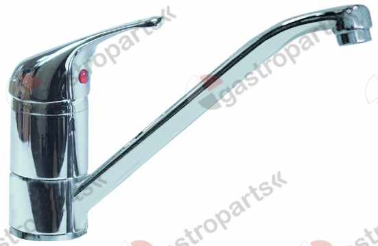540.160, single lever monobloc tap short lever ceramic cartridge ø 40mm spout length 230mm