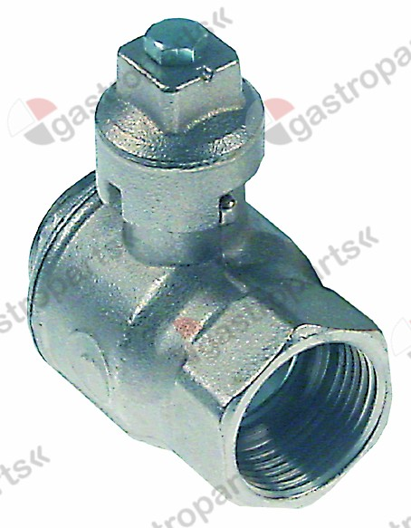 540.986, ball valve L 67mm without handle shaft o 17x17mm