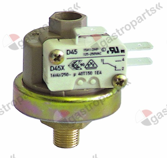 541.089, pressure control ø 38mm pressure range 0.5-1.2bar pressure connection vertical 16A 250V
