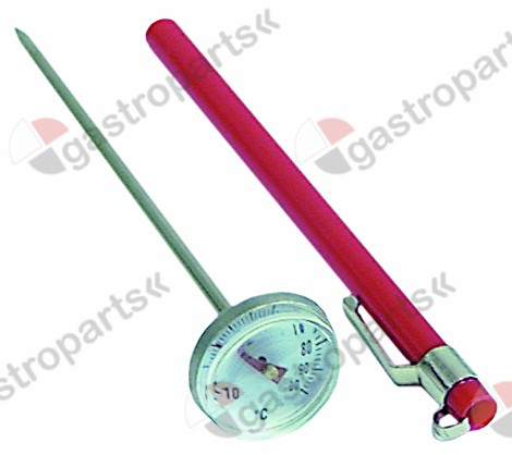 541.097, penetration thermometer L 143mm -10 up to 100°C t.max. 100°C display analogue ø 27mm probe L 120mm
