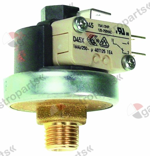 541.155, pressure control ø 38mm pressure range 1-2.5bar pressure connection vertical 16A 250V