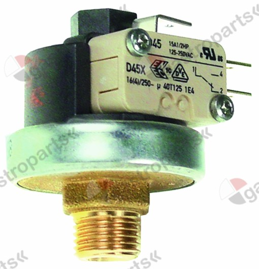 541.158, pressure control ø 38mm pressure range 1-2.5bar pressure connection vertical 16A 250V