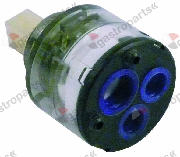 541.197, ceramic cartridge D1 ø 35mm D2 ø 23,5mm H1 27,4mm H2 37,5mm H3 56mm with 2 locking pins